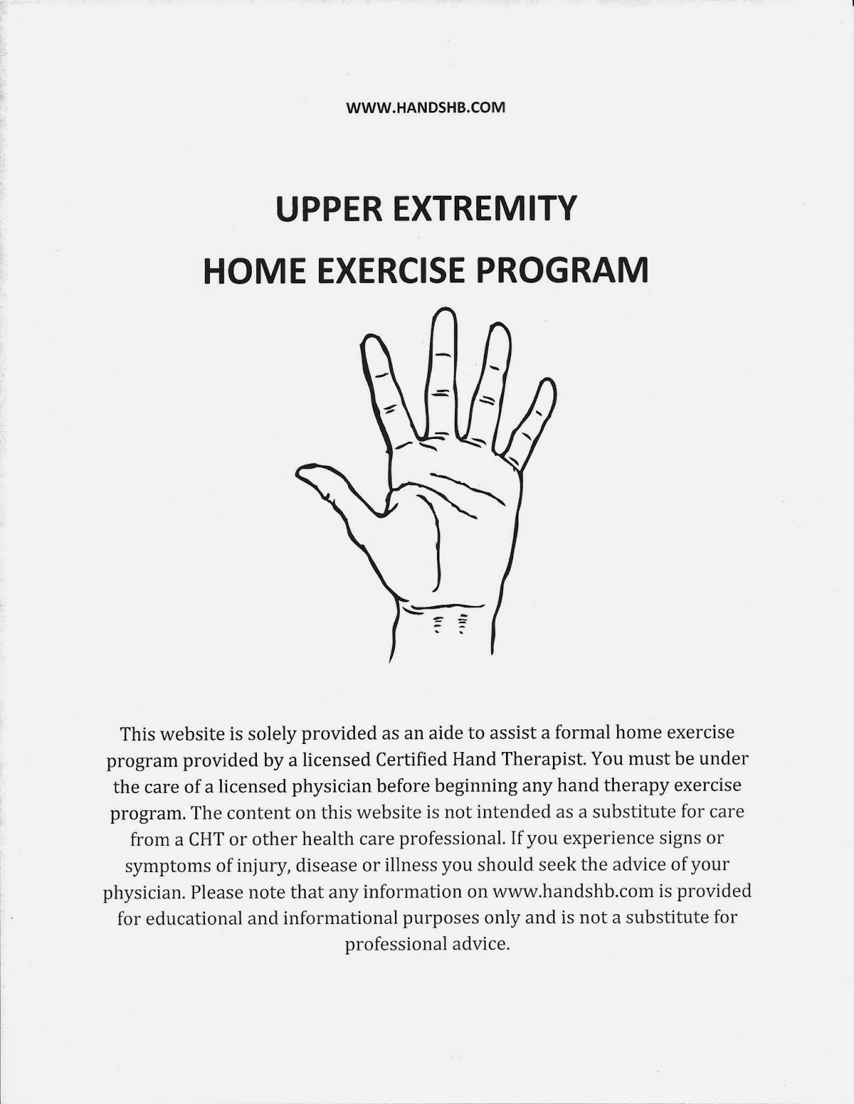 WEB SITE] HB Hands: Upper Extremity Home Exercise Program | TBI ...