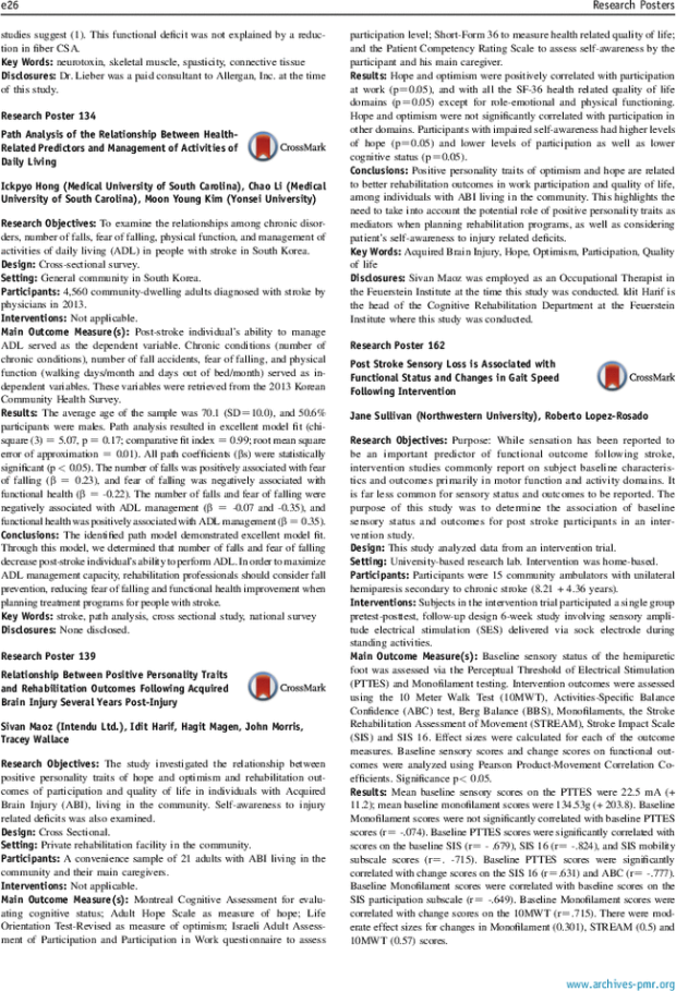 Poster] Relationship Between Positive Personality Traits and