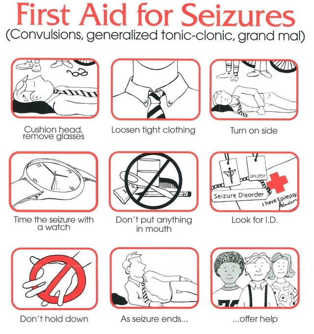 When someone's having a convulsive seizure, keep them safe, supported, and on their side.