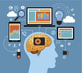 [An illustration of a brain and technology]