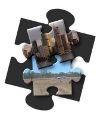 city and country puzzle pieces